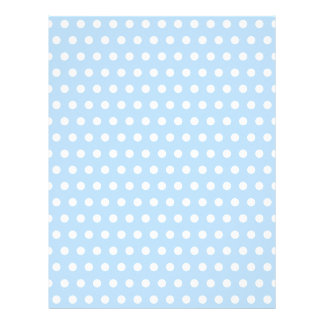 White and Blue Polka Dot Pattern. Spotty. Letterhead