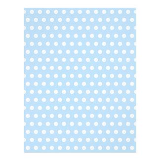 White and Blue Polka Dot Pattern. Spotty. Letterhead