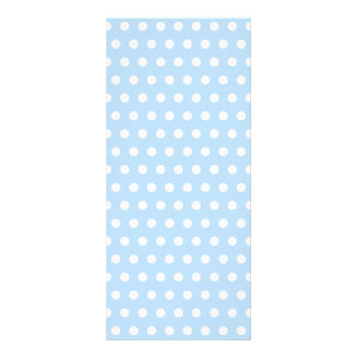 White and Blue Polka Dot Pattern. Spotty. Rack Card
