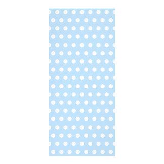 White and Blue Polka Dot Pattern. Spotty. Rack Card