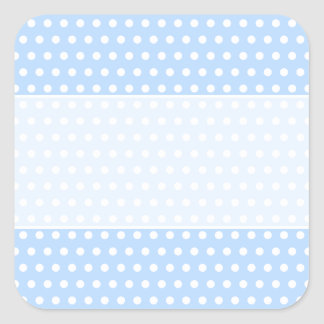 White and Blue Polka Dot Pattern. Spotty. Sticker