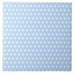 White and Blue Polka Dot Pattern. Spotty. Tile