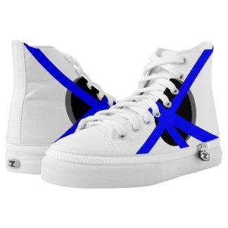 White and Blue Portal Hi-Top