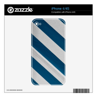 white and blue skin for the iPhone 4S