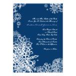 White and Blue Snowflakes Wedding Invitation 3
