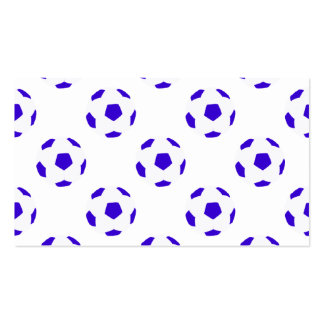White and Blue Soccer Ball Pattern Business Card