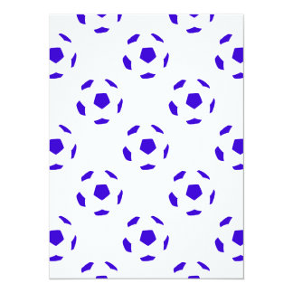 White and Blue Soccer Ball Pattern Card