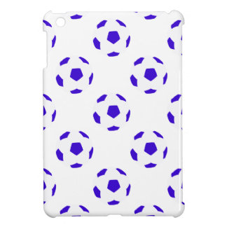 White and Blue Soccer Ball Pattern iPad Mini Cover