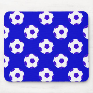 White and Blue Soccer Ball Pattern Mouse Pad