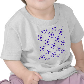 White and Blue Soccer Ball Pattern T-shirt