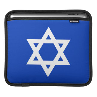 White and Blue Star of David Sleeves For iPads