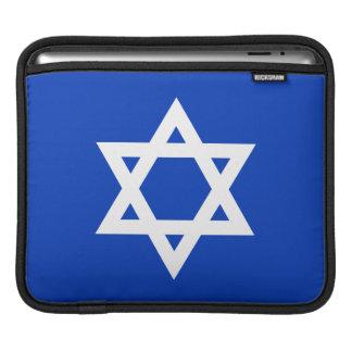 White and Blue Star of David iPad Sleeve