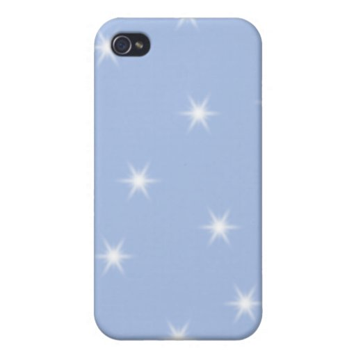White and Blue Stars Design. Cases For iPhone 4