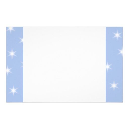 White and Blue Stars Design. Custom Stationery