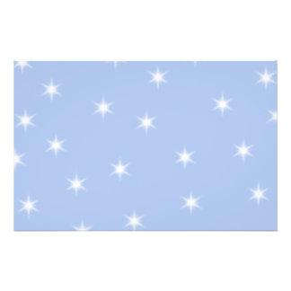 White and Blue Stars Design. Flyer