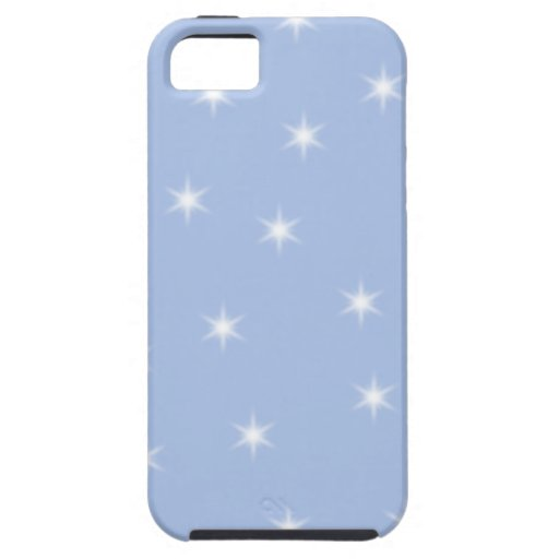 White and Blue Stars Design. iPhone 5 Case