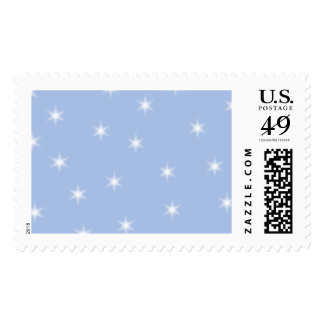 White and Blue Stars Design. Stamp