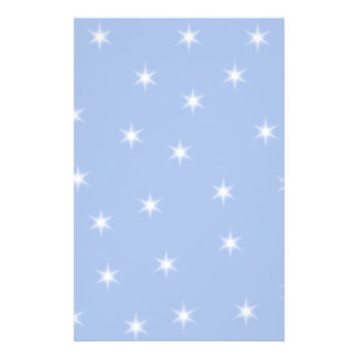 White and Blue Stars Design. Personalized Stationery