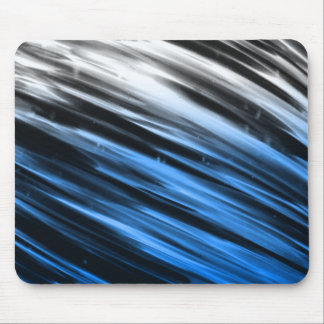 White and Blue Streaks Mouse Pad