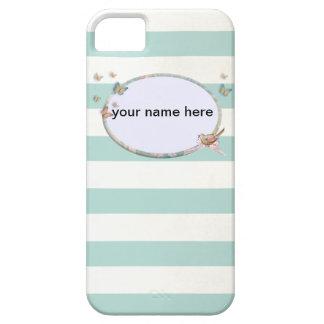 White and blue striped iPhone 5 case Funda Para iPhone SE/5/5s