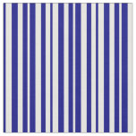 [ Thumbnail: White and Blue Striped/Lined Pattern Fabric ]