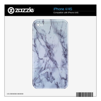 white and blue table decal for the iPhone 4