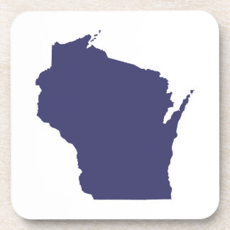 White and Blue Wisconsin Beverage Coaster
