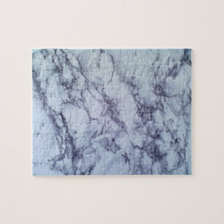 White and bluetable Pattern Jigsaw Puzzle