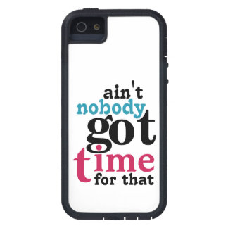 White and Bright Ain't nobody got TIME for that iPhone SE/5/5s Case