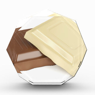 White and brown chocolate award