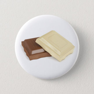 White and brown chocolate button
