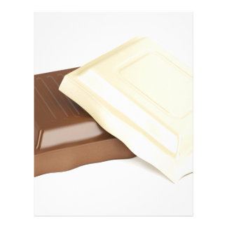 White and brown chocolate letterhead