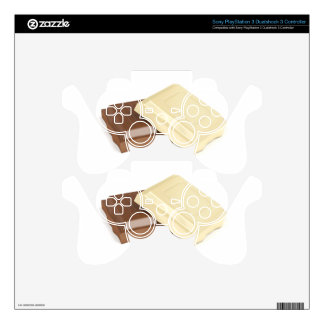 White and brown chocolate PS3 controller skins