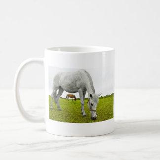 White and Brown Horse Mug