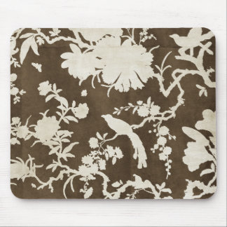 White and Brown Tree Branches Birds Mouse Pad