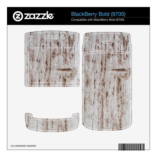 White and Brown wooden board BlackBerry Skins