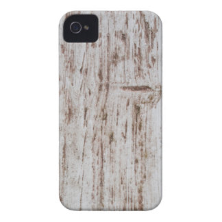 White and Brown wooden board iPhone 4 Case