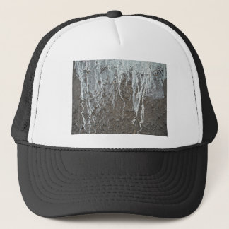 White and brown Woodish Texture Trucker Hat