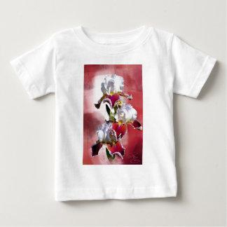 White and Burgundy Irises Baby T-Shirt
