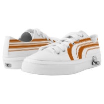 White and Burnt Orange Sojourn Max Low-Top Sneakers