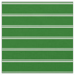[ Thumbnail: White and Dark Green Pattern of Stripes Fabric ]