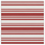 [ Thumbnail: White and Dark Red Colored Pattern Fabric ]