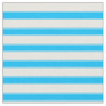 [ Thumbnail: White and Deep Sky Blue Colored Striped Pattern Fabric ]