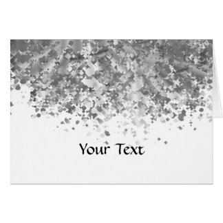 White and faux glitter personalized card