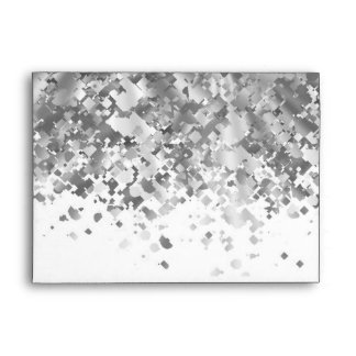 White and faux glitter personalized envelope