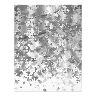 White and faux glitter personalized letterhead