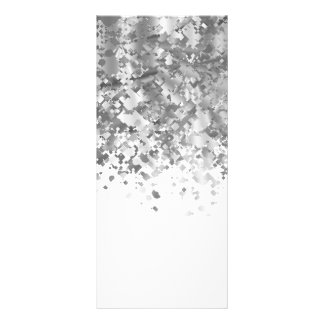 White and faux glitter personalized rack card design