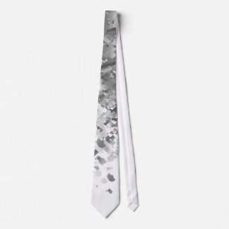 White and faux glitter personalized tie