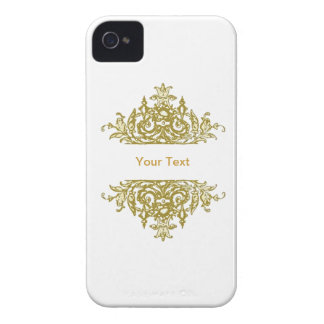 White and Gold Baroque Blackberry Case