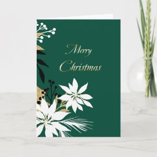 White And Gold Christmas Card